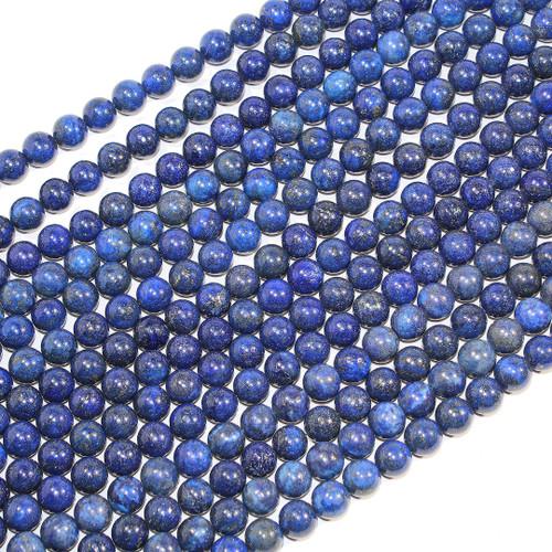Color Enhanced 10mm Lapis Rounds | Wholesale $7.50