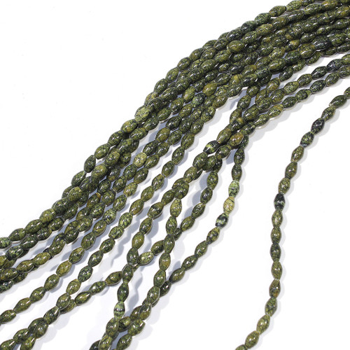 Russian Serpentine 4x6mm Rice Beads | $3.60 Wholesale