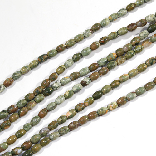Rhyolite 4x6mm Rice Beads | $3.60 Wholesale