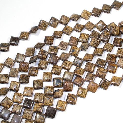 Bronzite 13x13mm Diamond | $12 Wholesale