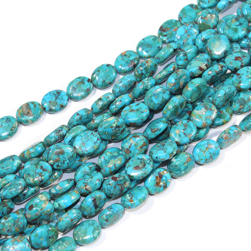 Composite Turquoise 10x8mm Oval Bead | $12 Wholesale