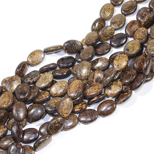 Bronzite Ovals 13x18mm Beads