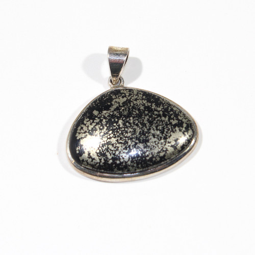 Pyrite and Sterling Silver Pendant 40x33mm