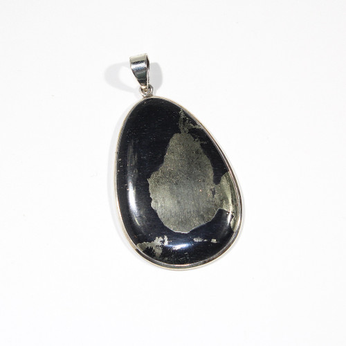 Pyrite and Sterling Silver Pendant 73x39mm