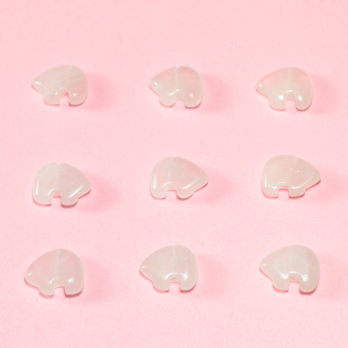 Rose Quartz Mini Zuni Bear Bead 8x12mm