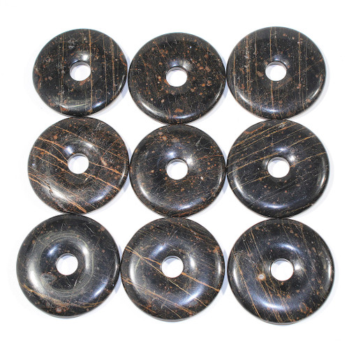 Golden Snowflake Obsidian 50mm Donut *LAST FEW*