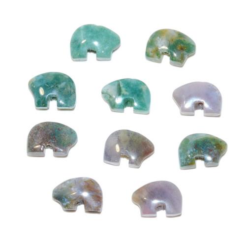 Fancy Jasper Mini Zuni Bear Bead 8x12mm