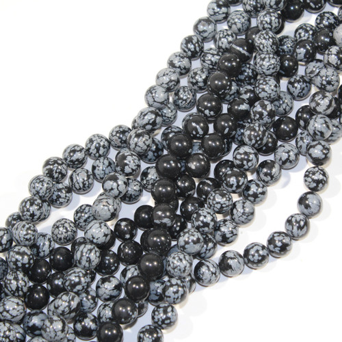 10mm Snowflake Obsidian Rounds