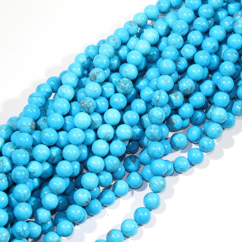 10mm Turquoise Dyed Howlite Rounds