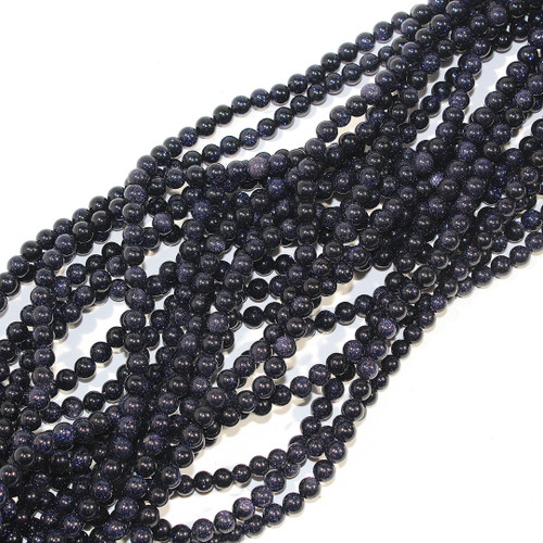 6mm Blue Goldstone Rounds