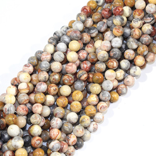 10mm Crazy Lace Agate Rounds