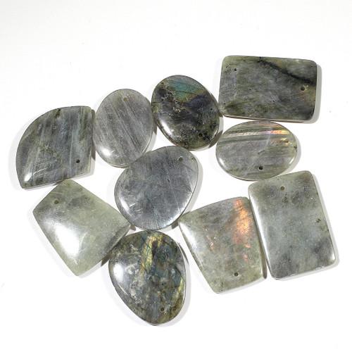 Labradorite Freeform Pendants