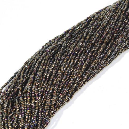 #12 Seed Bead Brown Iris Metallic | 1 Hank