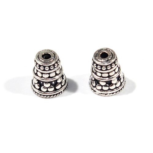India Silver 10mm Cone | Sold by Pair