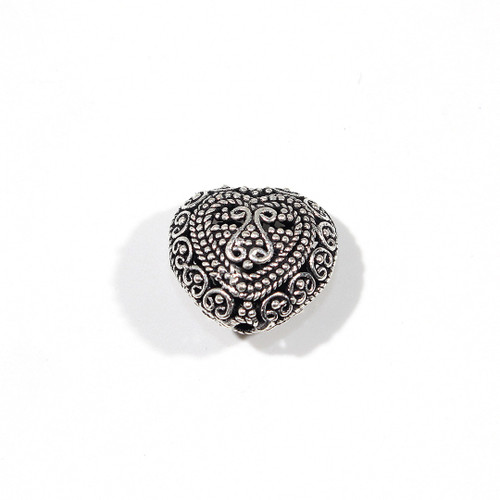 India Silver Hollow Heart 18mm | Sold per Piece