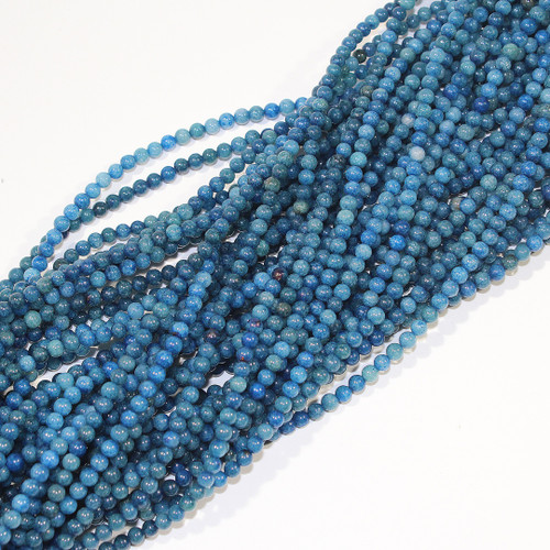 4mm Dyed Blue Aventurine Rounds