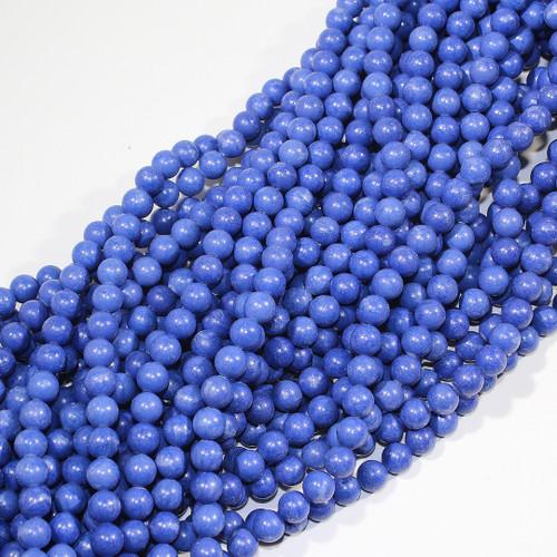 8mm Matte Dyed Blue Aventurine Rounds