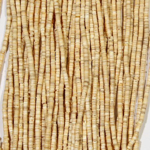 Melon Shell 2-3mm Heishi | Wholesale $3.80