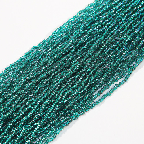 #11 Silver Lined Teal Seed Bead