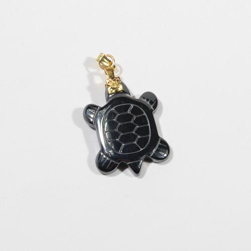 Hematite Turtle with bail