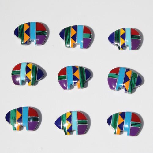 Mosaic Zuni Style Bear beads 18 x 13 mm | $3 Wholesale