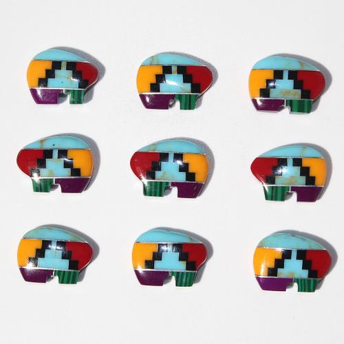 "Mosaic Zuni Style Bear beads 18 x 13 mm ""Turquoise"" | $3 Wholesale"