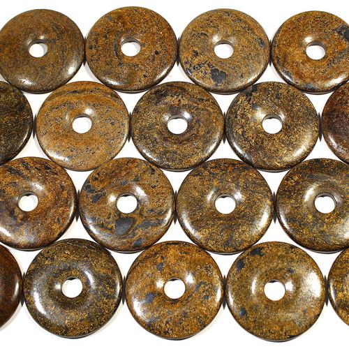 Bronzite 50mm Semi-Precious Donuts