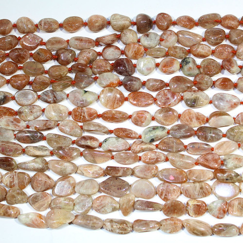 African Sunstone - AB Grade | Nuggets 7-12mm | Wholesale $11