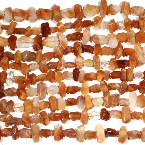 Red Hematoid Quartz | Nuggets - Faceted LG | Wholesale $20