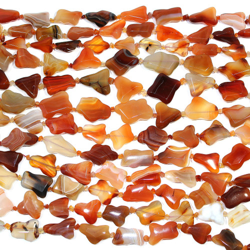 Carnelian | Free Form - Faceted 15x30mm | Wholesale $30