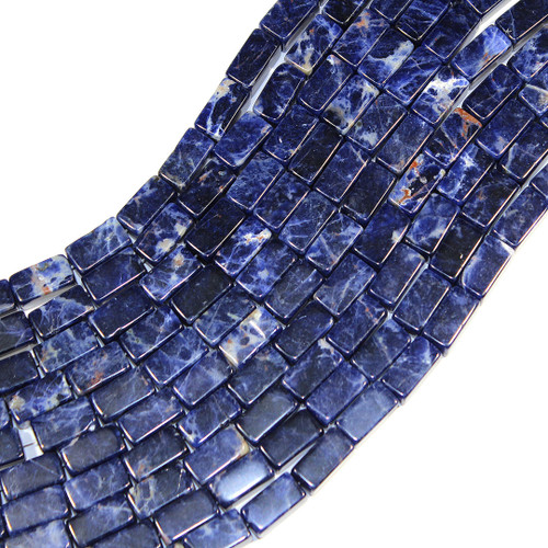 African Sodalite | Rectangle 9x17mm | Wholesale $15