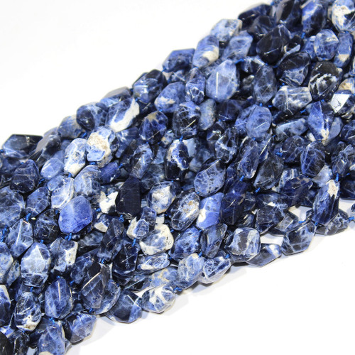 Sodalite | Nuggets -Faceted | Wholesale $15