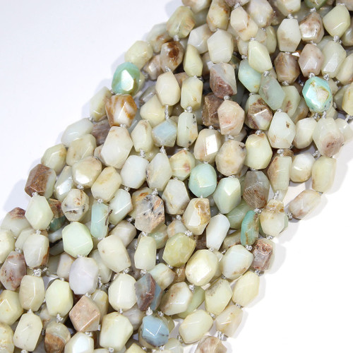 Green Opal | Nuggets - Faceted | Wholesale $15