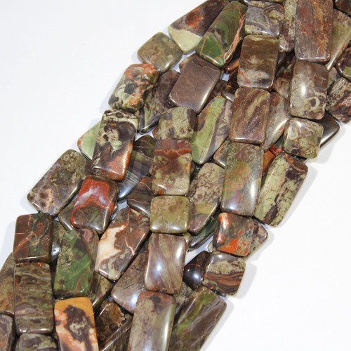Rainforest Jasper | Square & Rectangle | Wholesale $18