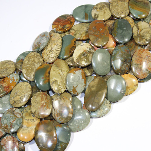 Rock Butte Picture Jasper | Ovals | Wholesale $20