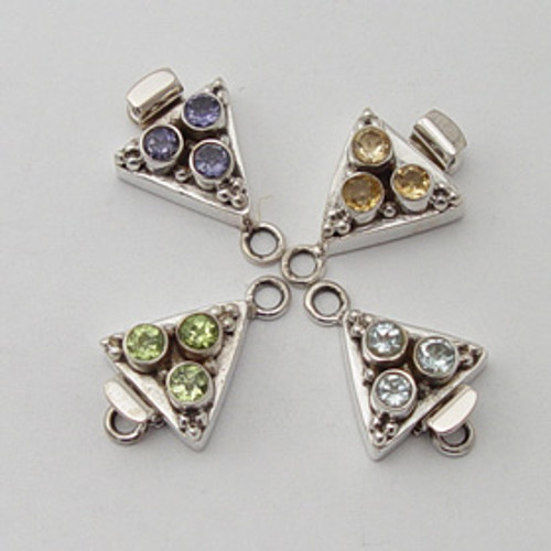 India Silver triangular clasp