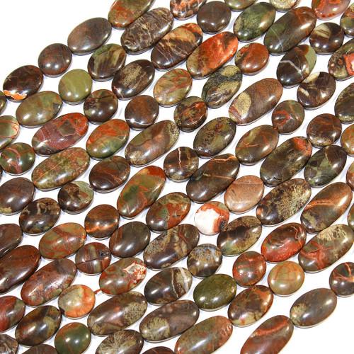 Rainforest Jasper | Ovals & Coins | Wholesale $14