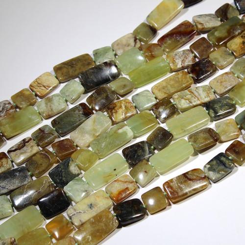 Flower Jade Rectangle Mix, 15X15-30mm