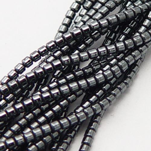 Hematite Drum beads 6mm