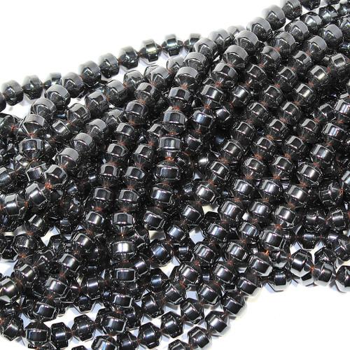 Hematite Faceted Balls 8mm