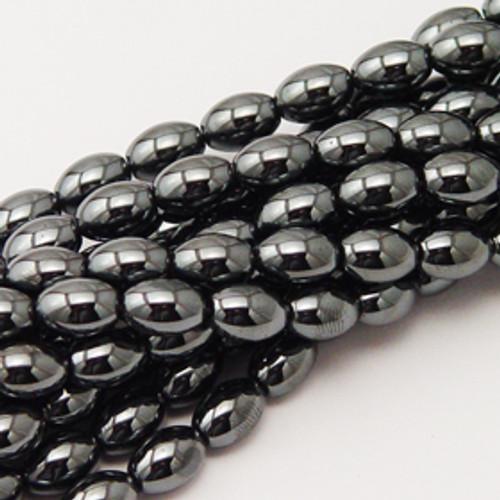 Hematite Rice Beads 6x9