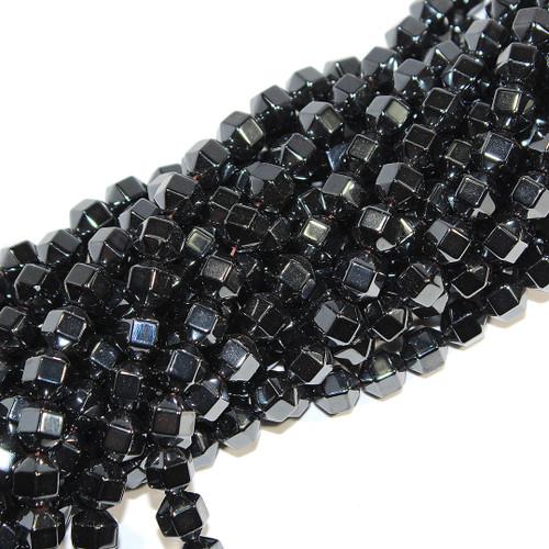 Hematite 18 Facet Beads 8x8