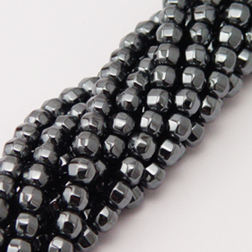Hematite Faceted 8mm ball