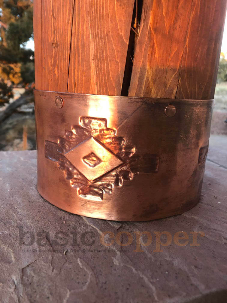 Embossed Copper Banding Picture 6