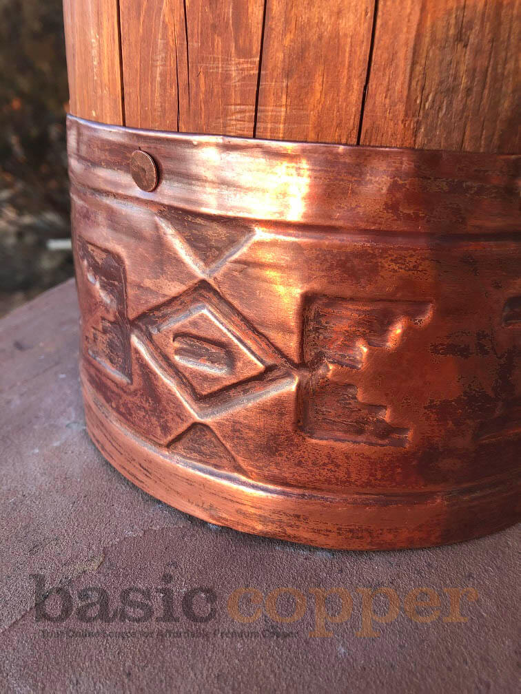 Embossed Copper Banding Picture 5