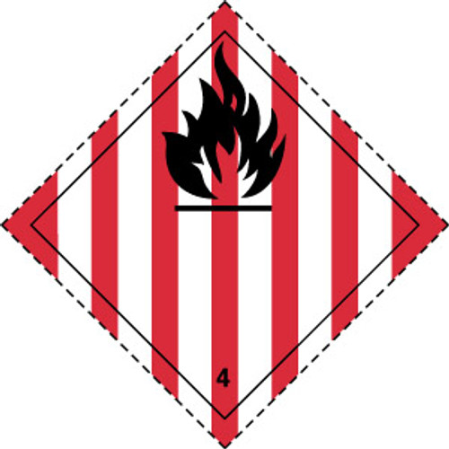 Flammable Solids 4 (Red and black)