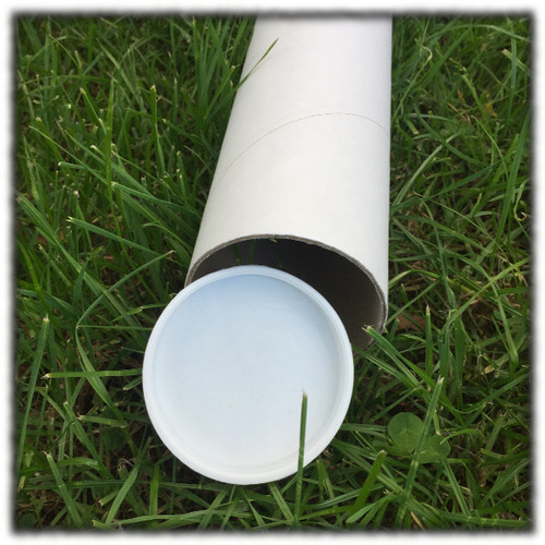 76mmID White Mailing tube 500mm long (single) - End Caps not included