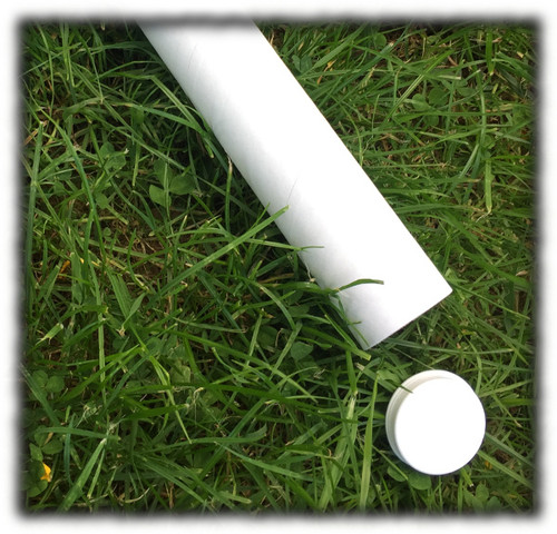50mmID White Mailing tube 500mm long (bundle of 24) - End Caps not included