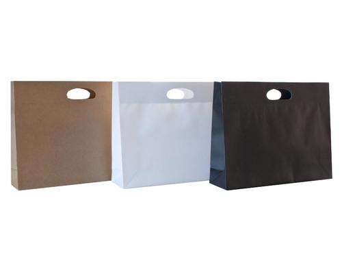 Die Cut Carry Bags (Landscape Gusset White) Qty 10