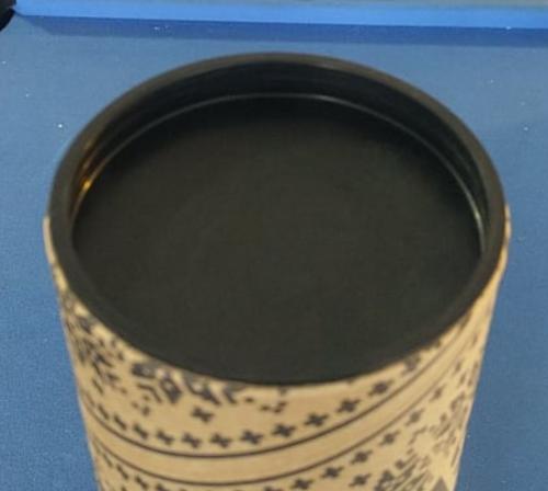 Black Mailing Tube End Cap 76mm